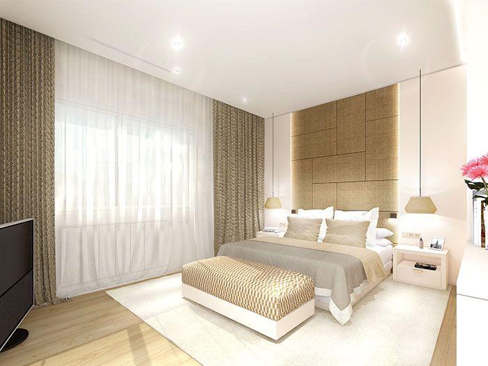 render de arquitectura de un apartamento en Barcelona