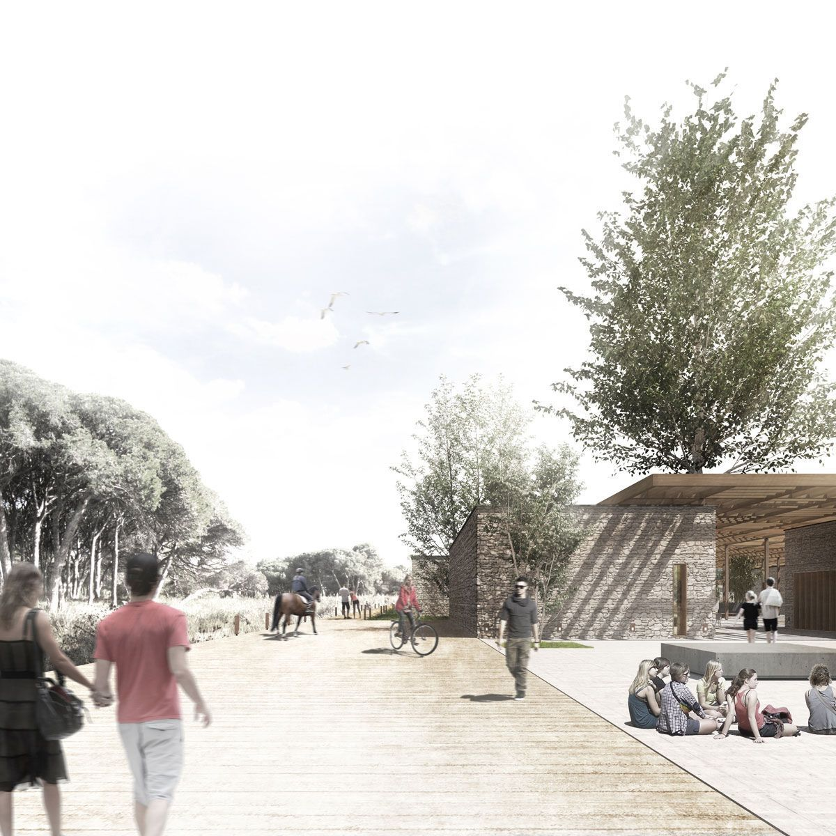 render conceptual para arquitectura